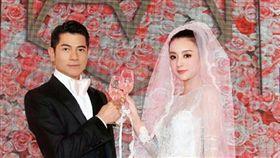 郭富城方媛結婚一週年 罕見結婚照曝光!(圖/翻攝自微博 方媛粉絲團)