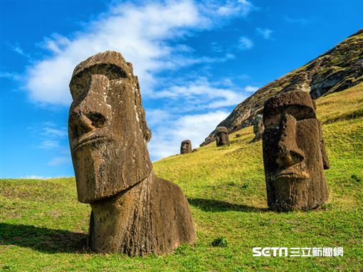 鴻鵠逸遊,頂級環遊世界,復活節島石像。(圖/易遊網提供)