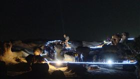 夜訪女王頭,野柳地質國家公園(記者柯智翔攝影)
