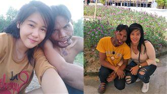 泰國正妹戀上醜男(翻攝自บุญมี ขันทอง臉書)