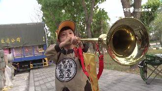 媽祖遶境 最萌6歲女童當哨角員領隊