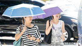 夏天,熱,高溫,紫外線,太陽,氣象 記者林敬旻攝