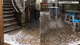 宜蘭棲蘭神木園區 冰雹