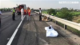 國道警開單遭貨車追撞 3人慘死輪下