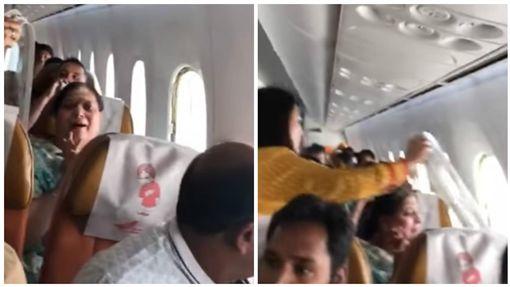 印度航空一客機在高空中窗戶竟突然脫落(圖/翻攝自YouTube)