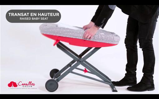 可變身澡盆的La Multi行李箱。(圖/翻攝自Canailles Cream的YouTube影片) https://youtu.be/Z-3Vp972WQ4