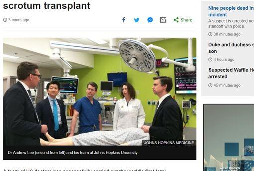 美國軍人陰莖移植手術(圖/翻攝自BBC)