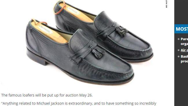 麥可傑克森穿過!這雙皮鞋拍賣價驚人