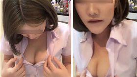泰國一名短髮女穿著學校制服,解開扣子「露奶」直播,來吸引人氣。不少網友看到後掀起熱議,紛紛好奇是哪間學校的學生。目前被網友點名的學校已展開調查,若該直播主為該校學生,恐面臨被退學的懲處。(圖/翻攝自《khaosod》)