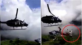 慎入!直升機墜毀生還者 遭救援直升機螺旋槳砍死