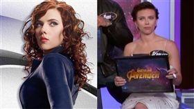 好萊塢性感女星史嘉蕾喬韓森自曝在飛機上洗手間糗事。(組圖/翻攝自Scarlett Johansson臉書、Jimmy Kimmel Live YouTube)