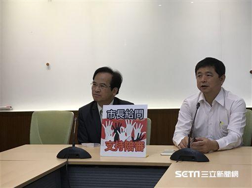 台北市參選人蘇煥智與陪審推動聯盟聯合記者會。(圖/記者林惟崧攝)
