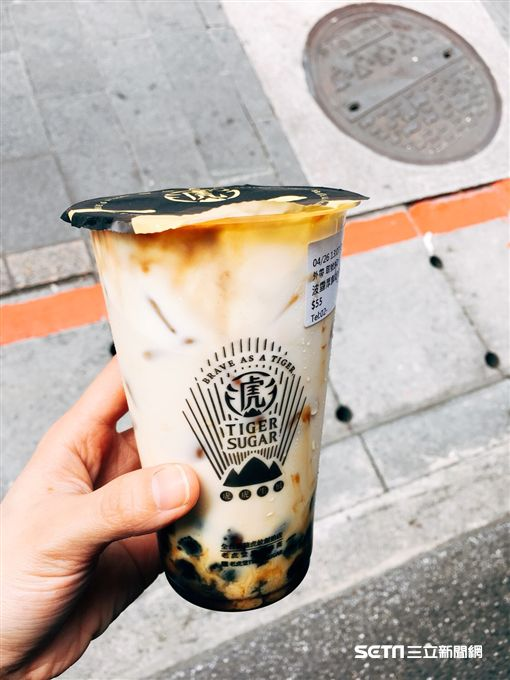 老虎堂黑糖波霸鮮奶,士林大北店。(圖/讀者提供)