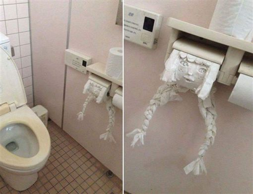 蹲廁所太無聊?他用衛生紙「」出女娃 :是便祕嗎?圖/翻攝自爆廢公社臉書