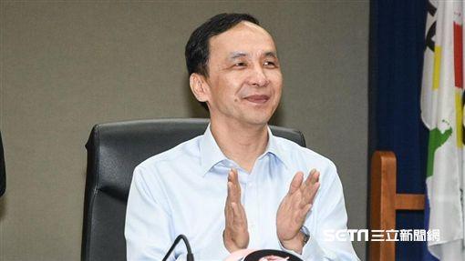 新北市長朱立倫出席雙北合作交流平台。 圖/記者林敬旻攝