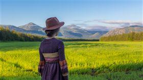 女孩,背影,鄉村,草原,田地,務農,鄉下,家鄉,遠望,旅行(圖/Pixabay)