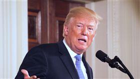美國總統川普美國總統川普27日恭喜「兩韓峰會」成功舉行,也強調他不會像過去的美國領導人一樣,被北韓玩弄。中央社記者鄭崇生華盛頓攝 107年4月28日