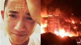 關心時事的吳慷仁對於敬鵬工廠大火造成消防隊員殉職表示哀慟。(圖/翻攝自臉書)