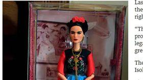 表揚傳奇女畫家!玩具商推出Frida芭比 涉侵權遭下架 圖/翻攝自衛報