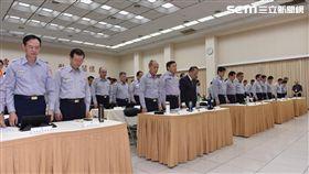 台北,國道,殉職,員警,默哀,警政署,家屬,國道警察(圖/翻攝畫面)