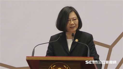 總統蔡英文今(30)日出席第三屆「總統創新獎」頒獎典禮致詞。(圖/記者盧素梅攝)