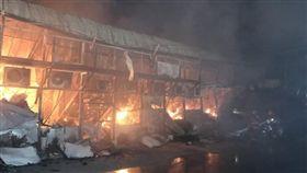 林口,電廠,辦公室,火災(翻攝畫面)