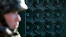 南韓拆邊界喇叭牆,大聲公(圖/美聯社/達志影像)