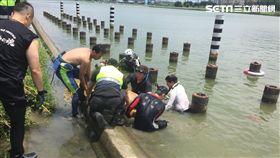 疏洪道,微風運河,釣客,落水,無呼吸,送醫,新北