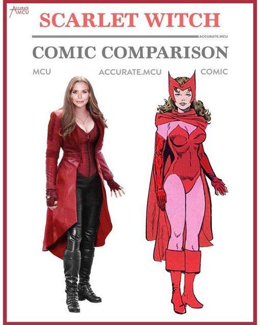▲緋紅女巫的漫畫造型其實比電影造型更為性感。(圖/翻攝自臉書)