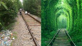 南京「愛情隧道」,鐵路 圖/翻攝自百度、江寧公安在線微博