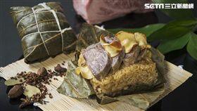 熊本和牛泡菜粽, 粽子, 端午節(圖/台南晶英酒店提供)