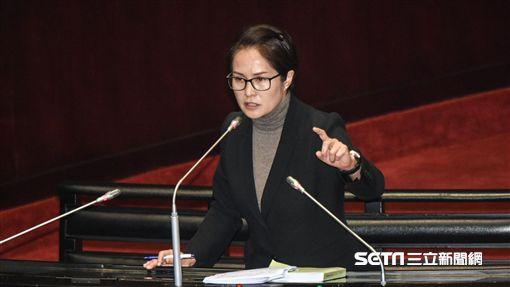 親民黨立委高金素梅質詢。 圖/記者林敬旻攝