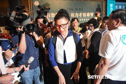 前總統陳水扁出席凱達格蘭基金會募款餐會,璩美鳳到場遭驅趕。 (圖/記者林敬旻攝) ID-1346609