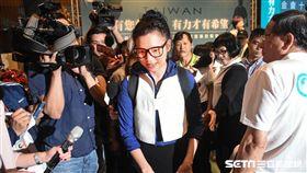 前總統陳水扁出席凱達格蘭基金會募款餐會,璩美鳳到場遭驅趕。 (圖/記者林敬旻攝)
