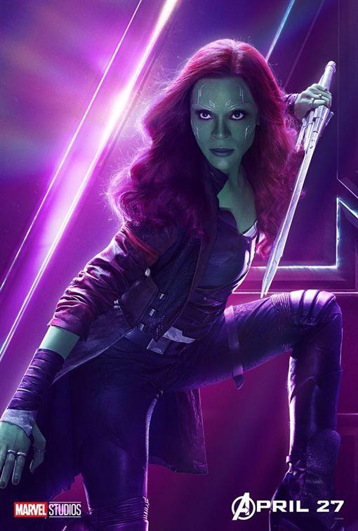 葛摩菈 柔伊莎達娜 Zoe Saldana /翻攝自Avengers