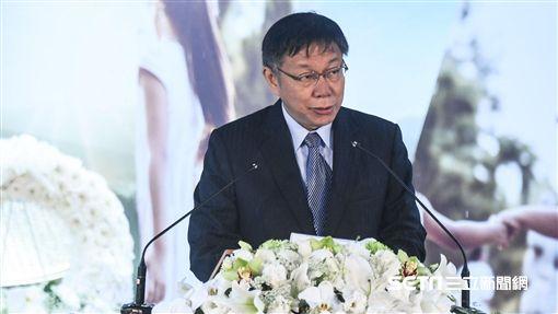 台北市長柯文哲出席228中樞紀念儀式並致詞。 圖/記者林敬旻攝
