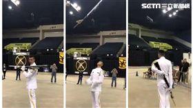 海軍上兵蘇祈麟赴美國比賽世界儀隊 截自影片