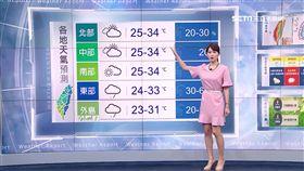 \明周一暖熱南風! 山區注意午後雷陣雨\ \ ]