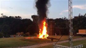 巴西新娘搭直升機進場 失控墜毀燒成火球巴西(圖/翻攝推特)