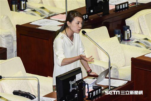 台北市議員顏若芳質詢。 (圖/記者林敬旻攝)