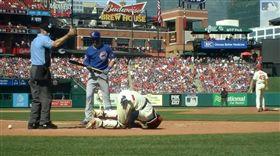 擦棒球直擊蛋蛋 莫里納將動刀缺4周 MLB,聖路易紅雀,莫里納,Yadier Molina,護襠,下體,蛋蛋 https://www.mlb.com/video/molina-exits-after-a-foul-tip/c-2010557383
