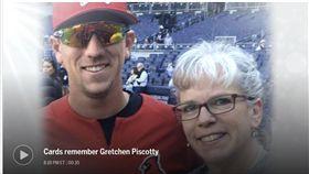 ▲奧克蘭運動家外野手Stephen Piscotty與Gretchen合影。(資料照/截自大聯盟官網)