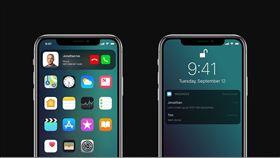 蘋果 iPhone X iOS12 概念圖 翻攝網路