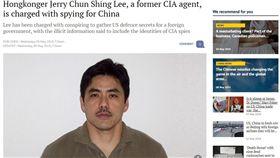 前美國中情局幹員李春興(Jerry Chun Shing Lee)(圖/翻攝自scmp.com)