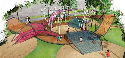 花博年底登場,其中豐原葫蘆墩第5區基礎佈展工程已經進入完工階段。