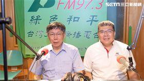 台北市長柯文哲接受綠色和平電台「有影上大聲」主持人陳雨鑫專訪 圖/台北市政府提供