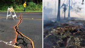夏威夷,幾勞亞,火山,噴發,巨石,飛航,熔岩,Kilauea(圖/翻攝自推特@USGSVolcanoes)
