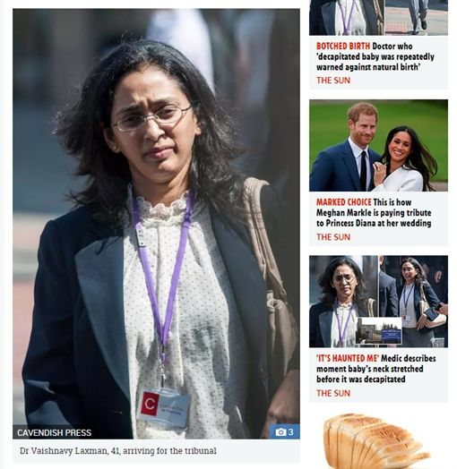 爸媽注意!胎兒這姿勢卻自然產 醫師用力一拉「斬首」寶寶醫師 拉克曼 Vaishnavy Laxman圖/翻攝自The Sunhttps://www.thesun.co.uk/news/6258803/dr-vaishnavy-laxman-doctor-decapitated-baby-ninewells-hospital-dundee/