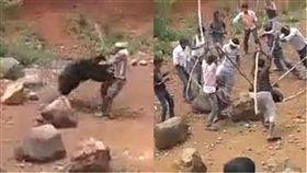 熊,自拍,印度,奧薩里邦,Odisha,裩棒,亂打,襲擊,預謀,陰謀 圖/翻攝自Youtube https://goo.gl/wHktaj