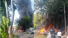 印尼泗水3教堂遭自殺炸彈攻擊!至少2死13傷 圖/翻攝自推特